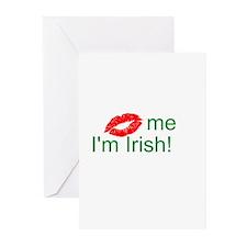 (Kiss) me I'm Irish! Greeting Cards (Pk of 10)