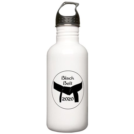 Martial Arts Black Bel Stainless Water Bottle 1.0L