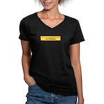 We Must Never Again Women's V-Neck Dark T-Shirt