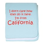 From California baby blanket