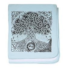 Celtic Tree of Life Ink Infant Blanket