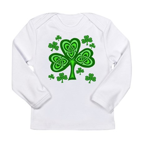 Celtic Shamrocks Long Sleeve Infant T-Shirt