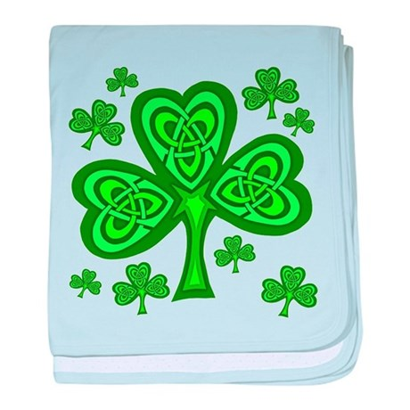 Celtic Shamrocks Infant Blanket
