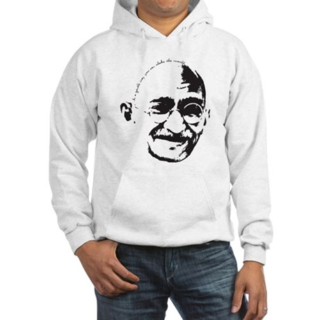 Gandhi Gentle Way Quote Hooded Sweatshirt