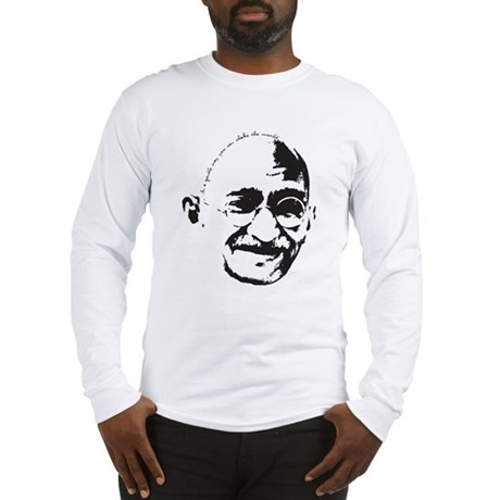 Gandhi Gentle Way Quote Long Sleeve T-Shirt