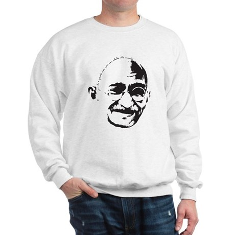 Gandhi Gentle Way Quote Sweatshirt