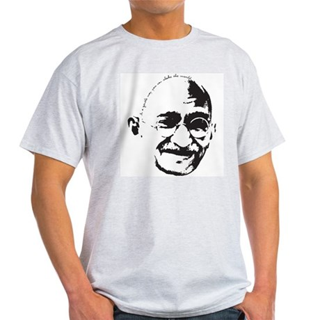 Gandhi Gentle Way Quote Light T-Shirt