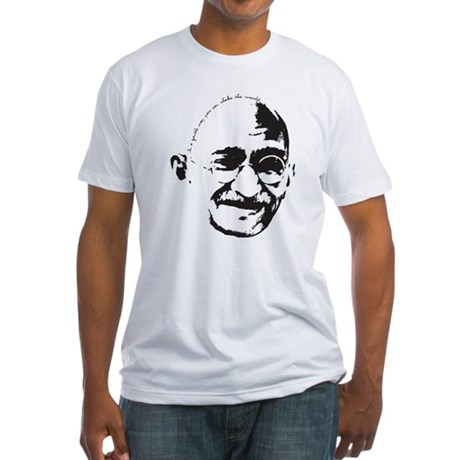 Gandhi Gentle Way Quote Fitted T-Shirt