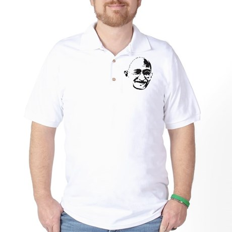 Gandhi Gentle Way Quote Golf Shirt