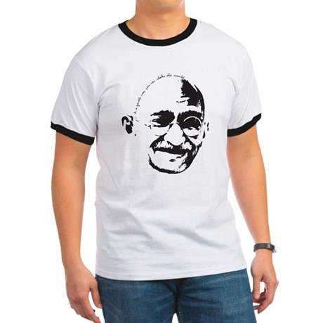 Gandhi Gentle Way Quote Ringer T