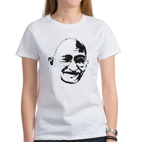 Gandhi Gentle Way Quote Women's T-Shirt