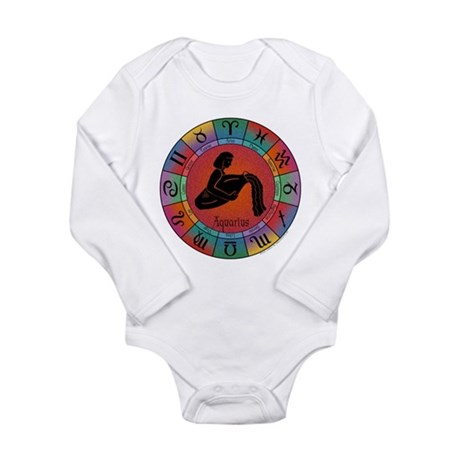 Aquarius Water Bearer Long Sleeve Infant Bodysuit