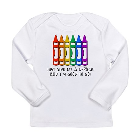Crayon 6-Pack Long Sleeve Infant T-Shirt