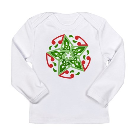 Celtic Christmas Star Long Sleeve Infant T-Shirt