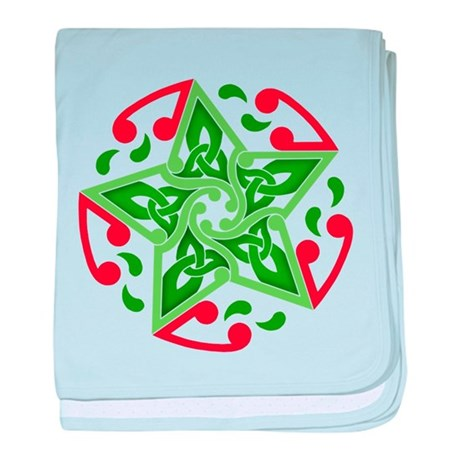 Celtic Christmas Star Infant Blanket