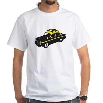 Taxi White T-Shirt