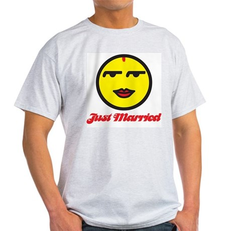 Just Married Female Ash Grey T-Shirt