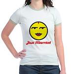Just Married Female Jr. Ringer T-Shirt