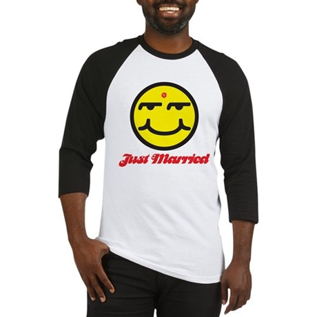 Just Married Male Baseball Jersey