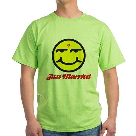 Just Married Male Green T-Shirt