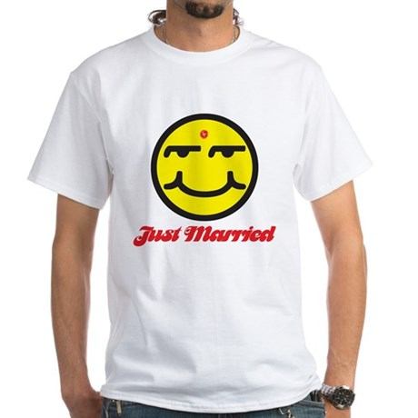 Just Married Male White T-Shirt