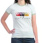 Desi Queen Crowns Jr. Ringer T-Shirt
