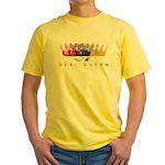 Desi Queen Crowns Yellow T-Shirt