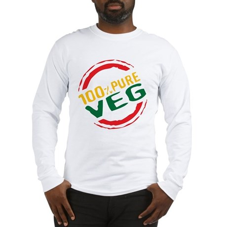 100% Pure Veg Long Sleeve T-Shirt
