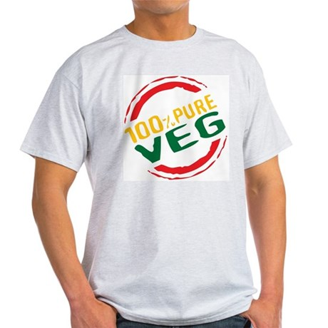 100% Pure Veg Ash Grey T-Shirt