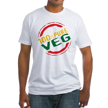 100% Pure Veg Fitted T-Shirt