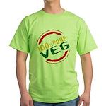 100% Pure Veg Green T-Shirt