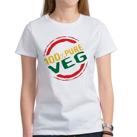 100% Pure Veg Women's T-Shirt