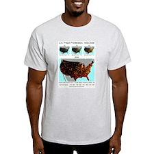 Ash Grey T-Shirt Prison Proliferation 1900-2000