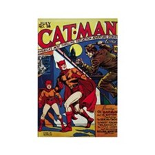 $4.99 Classic Cat-Man Rectangle Magnet