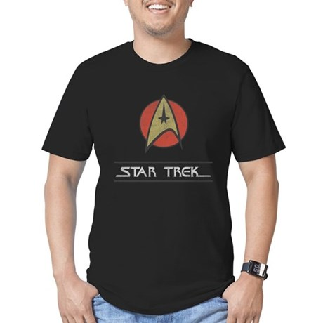 Vintage Star Trek Mens Fitted Dark T-Shirt