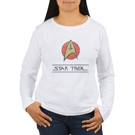 Vintage Star Trek Womens Long Sleeve T-Shirt