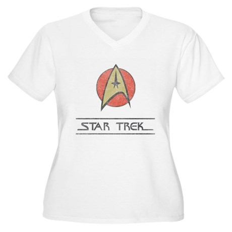 Vintage Star Trek Plus Size V-Neck Shirt