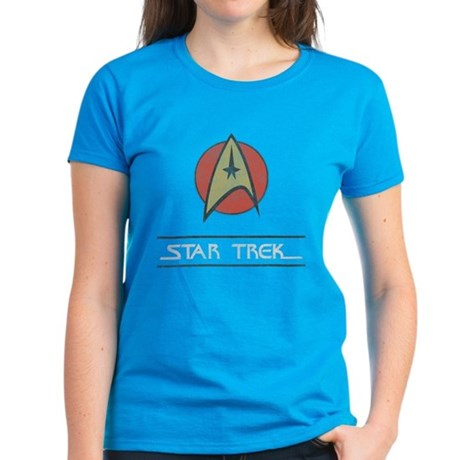 Vintage Star Trek Womens T-Shirt