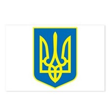 Ukraine Coat of Arms Postcards (Package of 8)
