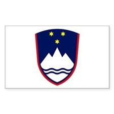 Slovenia Coat of Arms Rectangle Decal