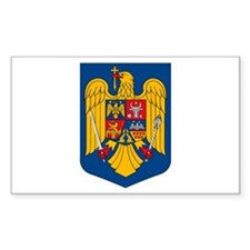 Romania Coat of Arms Rectangle Decal