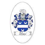 Tolomei Family Crest Oval Sticker