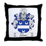 Tolomei Family Crest Throw Pillow