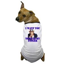 Pull My Finger Uncle Sam Dog T-Shirt