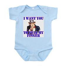 Pull My Finger Uncle Sam Infant Creeper