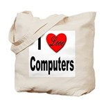 I Love Computers Tote Bag