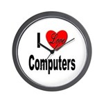 I Love Computers Wall Clock