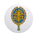 French Coat of Arms Ornament (Round)