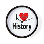 I Love History Wall Clock