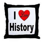 I Love History Throw Pillow
